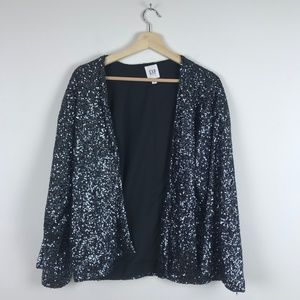 GAP Metallic Sequin Lined Jacket Pockets Size M